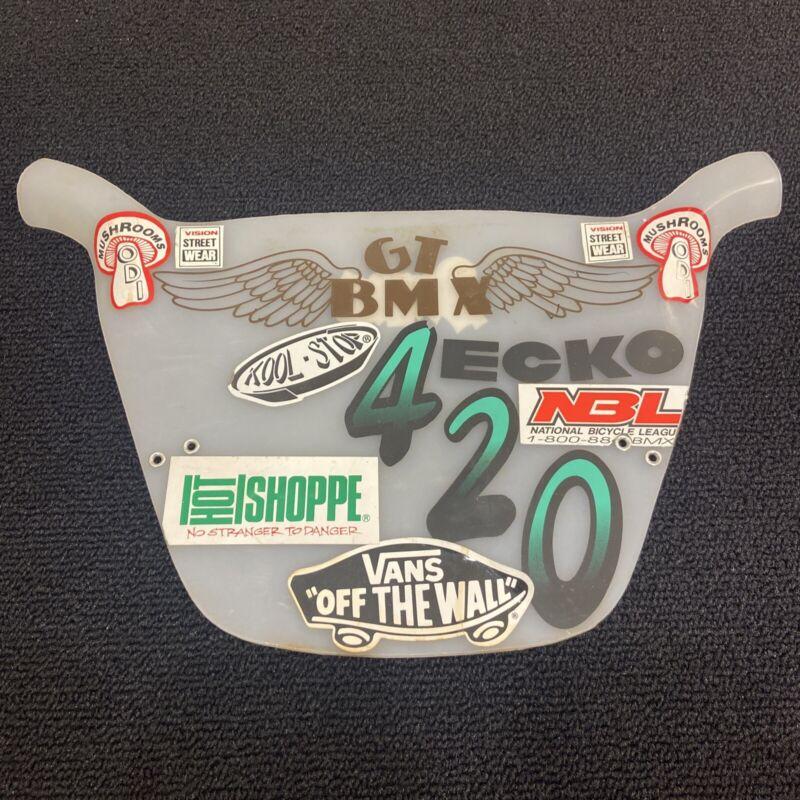 Mid School BMX Number Plate