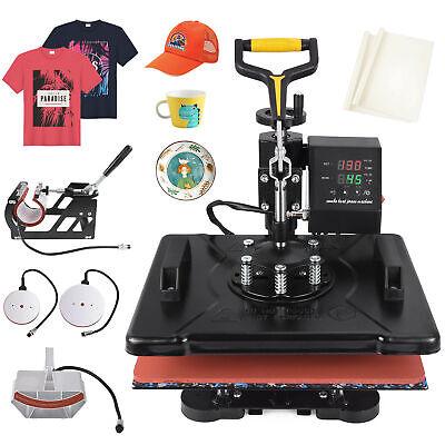 5 In1 Heat Press 12x15 T-shirtmugplatehat Transfer Machine Swing Away
