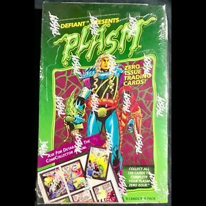 Factory sealed box of Plasm trading cards