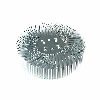 2pcs 3.5x0.8inch Round Spiral Aluminum Alloy Heatsink For 1-10w Led Silver White