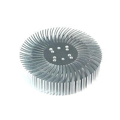 2pcs 3.5x0.8inch Round Spiral Aluminum Alloy Heatsink For 1-10w Led Silver White