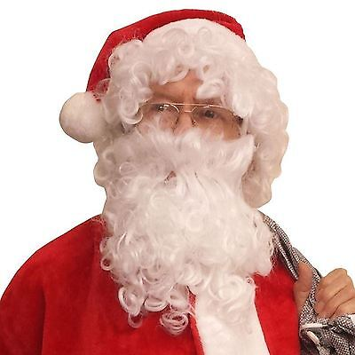 Weihnachtsmann Assistent Old Man Perücke Bart Schnurrbart Kostüm - Kostüme Assistent