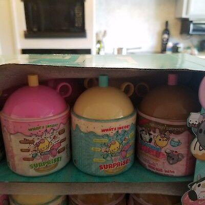 2 Smooshy Mushy Series 2 New! Do-Dat Donuts Vanilla Chocolate Strawberry Shake