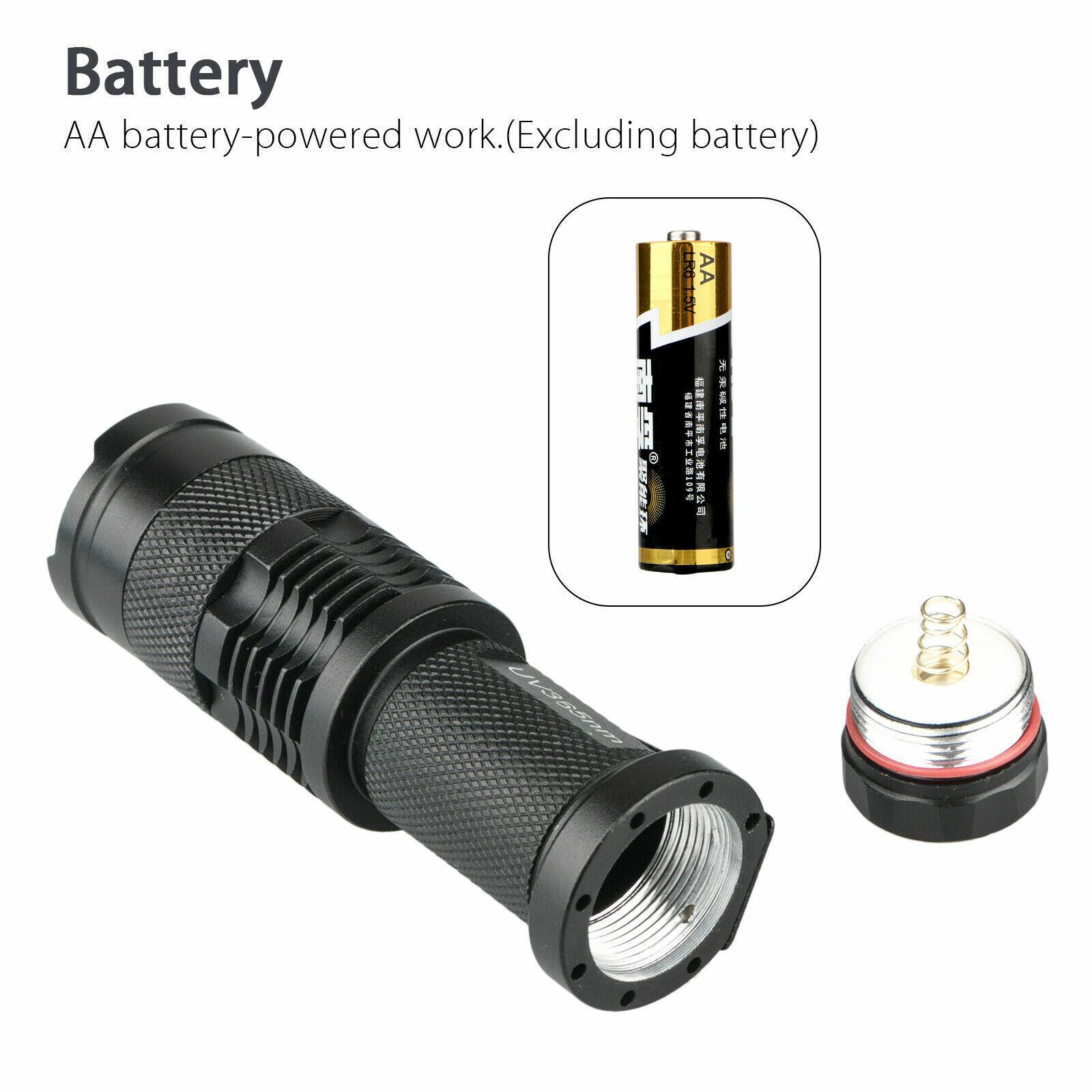 365nm LED High Powered UV Lamp Black Light Ultra Violet Flashlight Super Bright Camping & Hiking