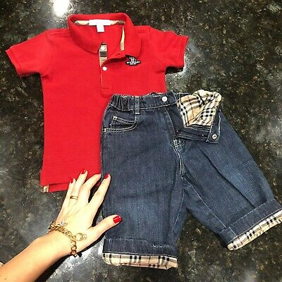 2 Years 24 Months (18m +) Authentic Burberry Baby Boys Polo Pants Jeans T-shir