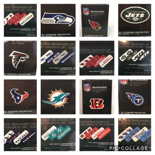 "2 BOXES NFL OFFICIAL BANDAGES, 1""X3"", 50/BOX MULTIPLE NFL OP"