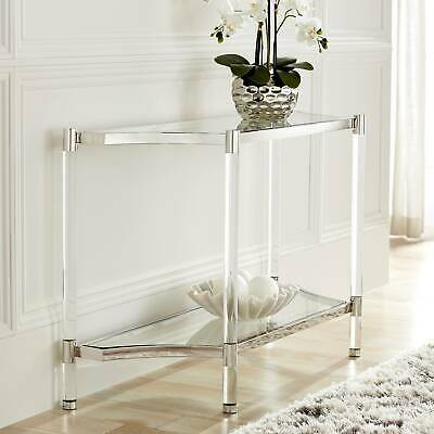 "Erica 48"" Wide Clear Acrylic Console Table"