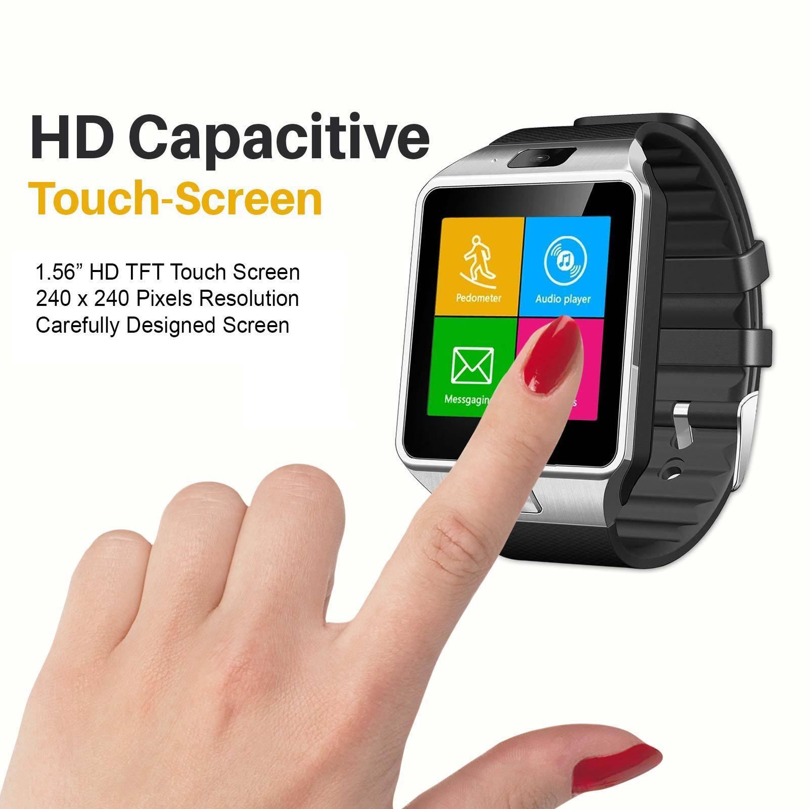 Smart Watch Mobile Phone Unlocked GSM Bluetooth4.0 Music Player Camera Sync DZ09
