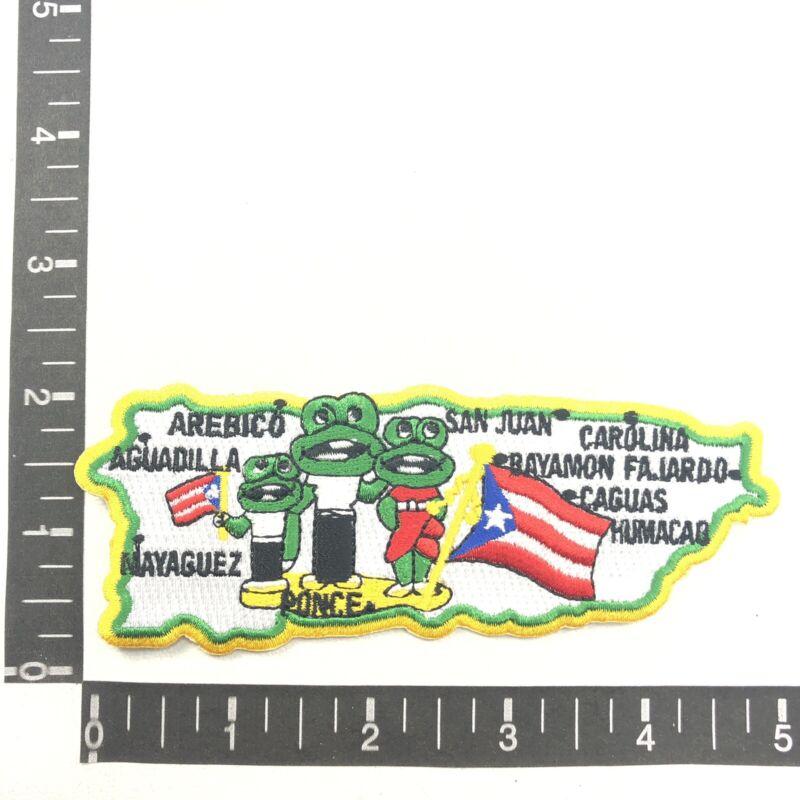 "5"" Tree Frog & Flag PUERTO RICO San Juan & Cities Commonwealth USA C658"