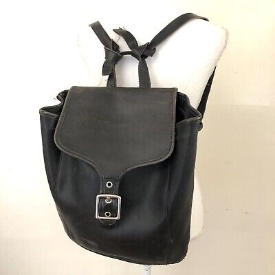 Coach Black Leather Backpack A9C-9064