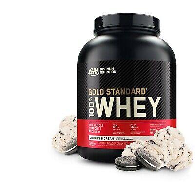 Gold Standard 100% Whey Protein Powder, Cookies & Cream, 24g Protein, 5 Lb