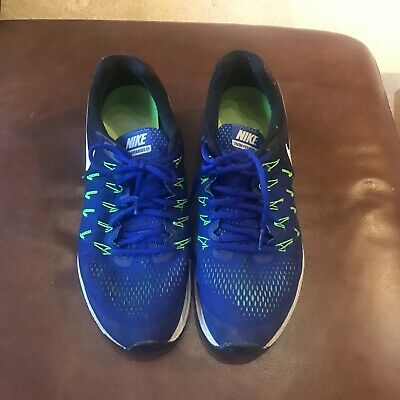 Mens Nike Air Zoom Pegasus 33 Trainers Blue neon Size 11