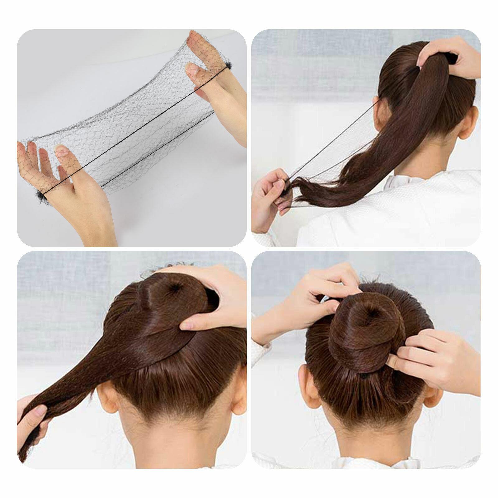 100200PCS Invisible Hair Nets Bun Cover Elastic Edge Mesh Hairnet Stretch Cap