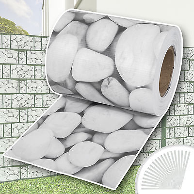Garden fence screening privacy shade 70m roll panel cover mesh foil cobblestone