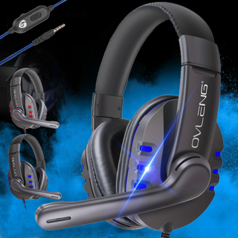 Over-ear Gaming Headset Ergonomic Headphone For PS4/Nintendo Switch/Xbox One/PC