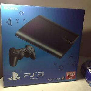 Sony PS3 Console 500GB PlayStation 3 Super Slim with games Beechboro Swan Area Preview