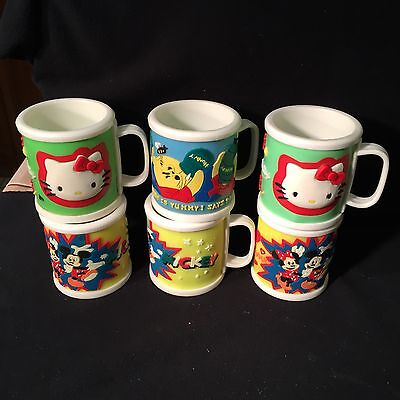 Children's Cups With Handles Thick Girls & Boys Storybook Characters Set Of 6 - Girl Storybook Characters