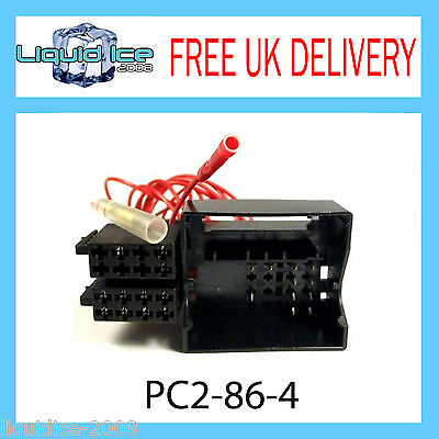 PC2-86-4 Peugeot 307 407 607 807 ISO Stereo Head Unit Harness Adaptor Loom Lead