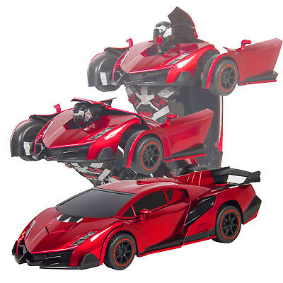 Kids Toy Gift Transformer RC Robot Car Remote Control Car w/ Sounds LED Light A1
