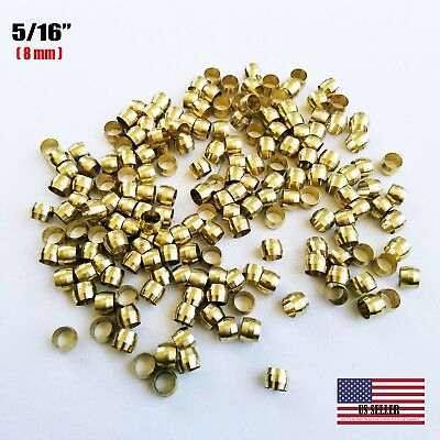 Brass Fittings Brass Compression Sleeve Tube Od 516 Qty. 50