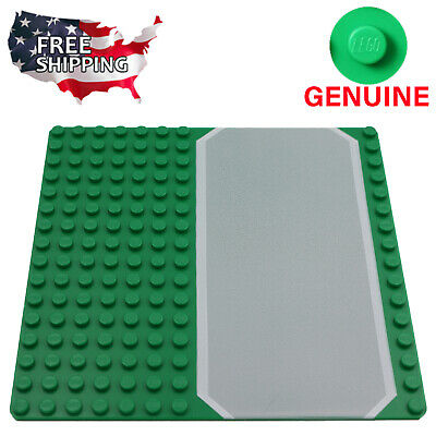 x1 Lego Green Road Baseplate Base Plates Brick Building 16 x 16 Dots Green