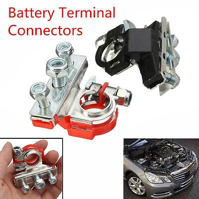 2x Battery Terminal Connector Universal Car Auto Positivenagative Heavy Duty Us