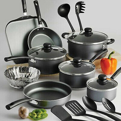 18-PIECE COOKWARE SET Pots And Pans Non Stick Cooking Aluminum Professional Kit