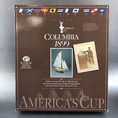 Used, NEW Authentic Models Holland 1899 Columbia Schooner Yacht Wood Ship Model Kit for sale  Sweet Grass
