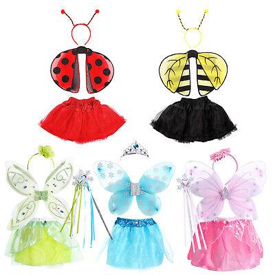 Kids Girls Fairy Tale Princess Butterfly Wings Fancy Dress Halloween Costume](Children's Story Halloween Costumes)