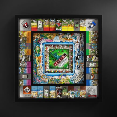 """Charles Fazzino Monopoly """" World Edition """" Signed & Numbered Limited Edition !"""