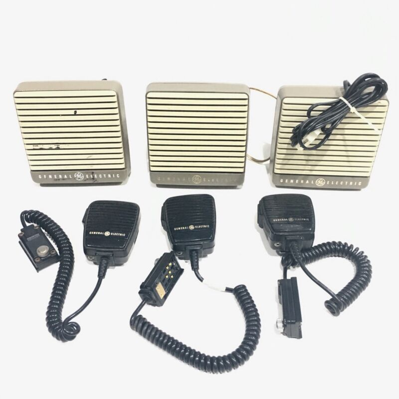 GE Lot of 3 Personal Radio Mic and Speakers