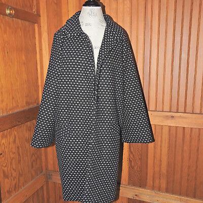 Anthropologie Hazel Womens Black & White Coat Size Large NWT