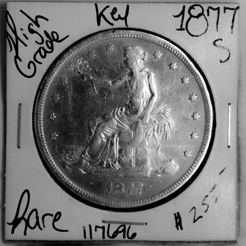 1877 S Trade Silver Dollar #117696 HIGH Grade Rare KEY Date U.S. Coin Free Ship