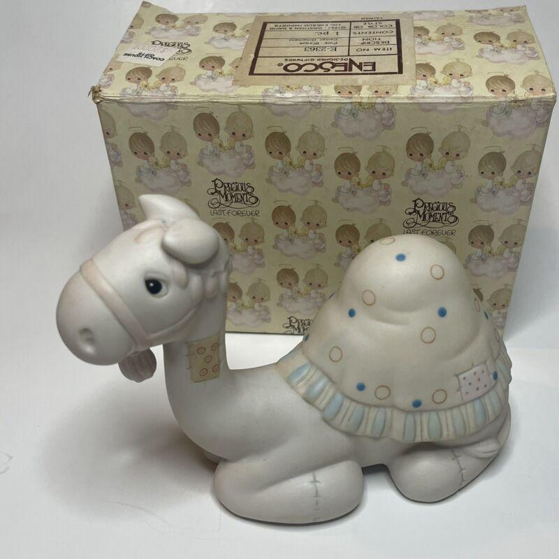 Precious Moments MIB Jonathan & David 1982 Nativity CAMEL Figurine #E-2363