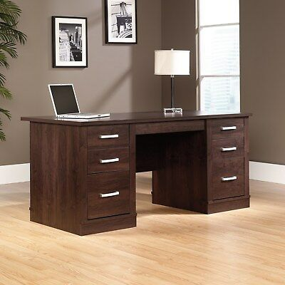 408289 Sauder Executive Desk Office Port Dark Alder -