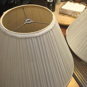 Two matching white lampshades Kingston Kingston Area image 2