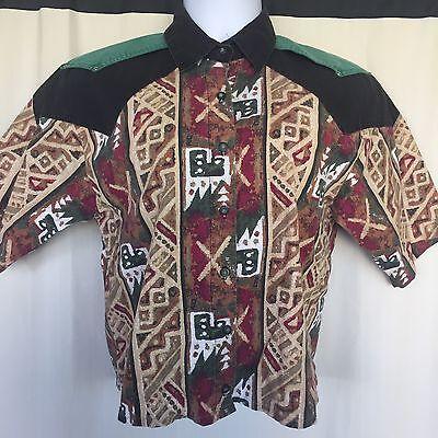 Adobe Rose Sz M Ladies Shirt Country Western Rodeo Cowgirl Costume Halloween - Aztec Halloween Costume