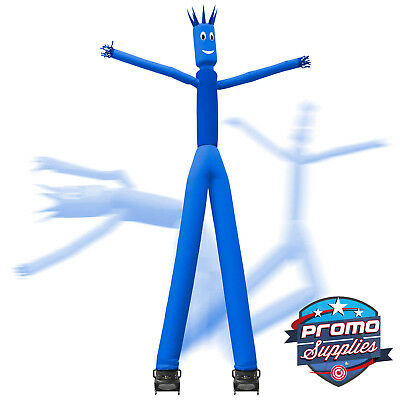 Inflatable 2 Dual Leg Inflatable Dancer Man Dancing Guy Blower Fan - Blue