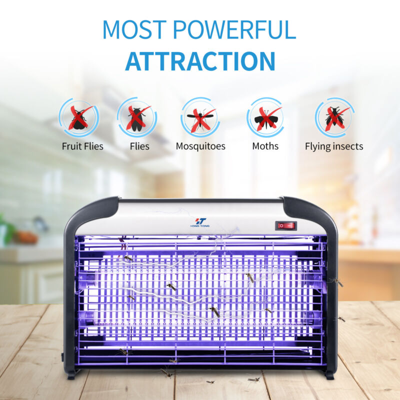 20W UV Light Lamp Electric Bug Zappers Insect Killer Fly Moth Mosquito Killer