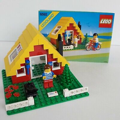 vtg 90's Lego set 6592 Hideaway vacation house + instructions Legoland town city