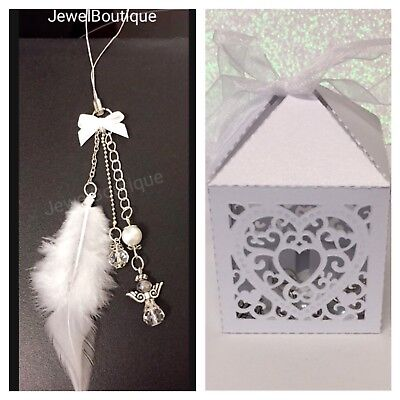 Guardian Angel Charm, Car charm, Rear View Mirror charm Gift with Gift Box