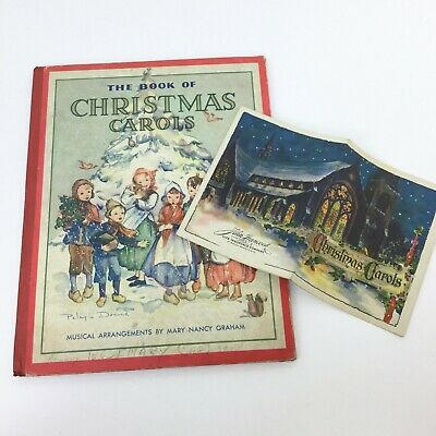 Vtg Christmas Carols Books Children Christmas Songs Religious Pelagie Doane ()
