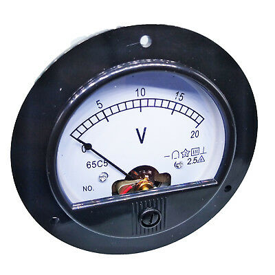 Us Stock Dc 0 20v Round Analog Volt Pointer Needle Panel Meter Voltmeter