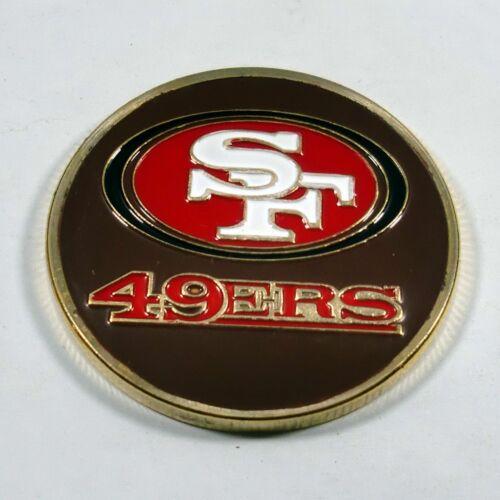 NFL San Francisco 49ers Poker Chip Card Guard Challenge Coin Golf Marker