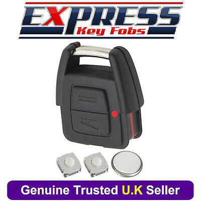 Vauxhall 2 Button Remote Key Fob Case Repair Kit Fits Astra Zafira Vectra Omega