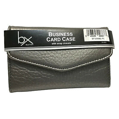 Buxton Business Card Credit Card Case Wallet - Silver