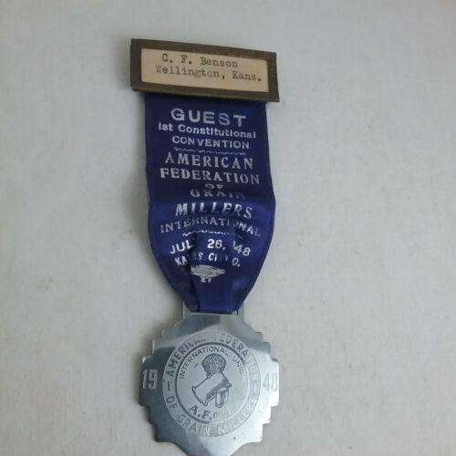 1948 American Federation of Grain Millers International Kansas City, MO Badge