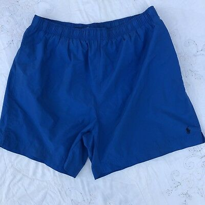 vtg Polo Sport Ralph Lauren Blue Swimming Trunks Young Adults Size 2XL