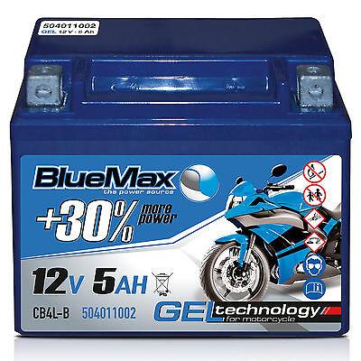 Starterbatterie 12 V 5 Ah 40 A/EN CB4L-B GEL 50411 Motorradbatterie YB4L-B