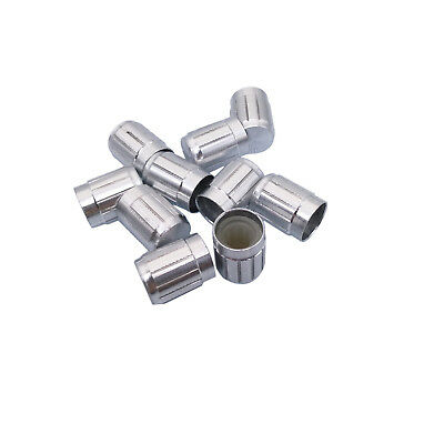 (US Stock 10x Aluminum Hi-Fi CD Volume Tone Control Potentiometer Knob 6mm Silver)